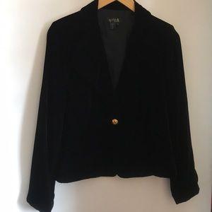 Cynthia Howie black velvet jacket